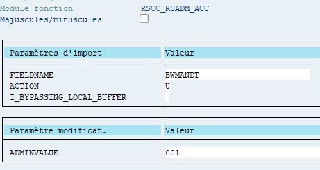 Lancement de la fonction RSCC_RSADM_ACC