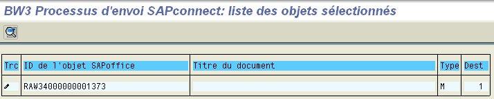 Transaction SOST : résultat d'envoi