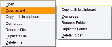 ZAL11 File and folder context menu