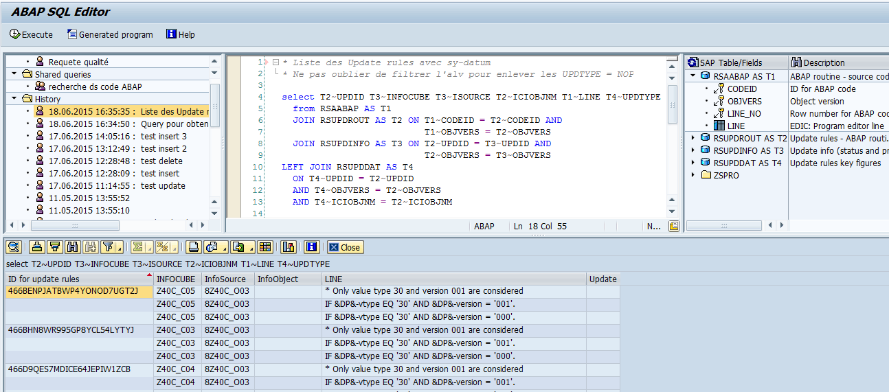 exec sql statement in abap